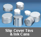 slip cover tins and ink cans