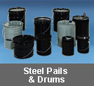 steel pails and drums