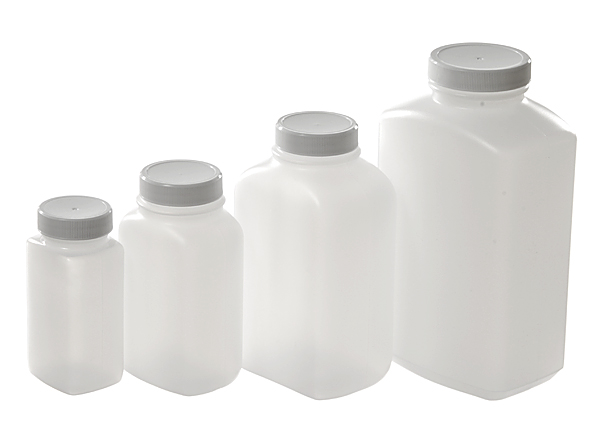 Wide Mouth Oblong Bottles