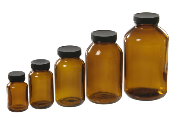 Amber Packer Bottles