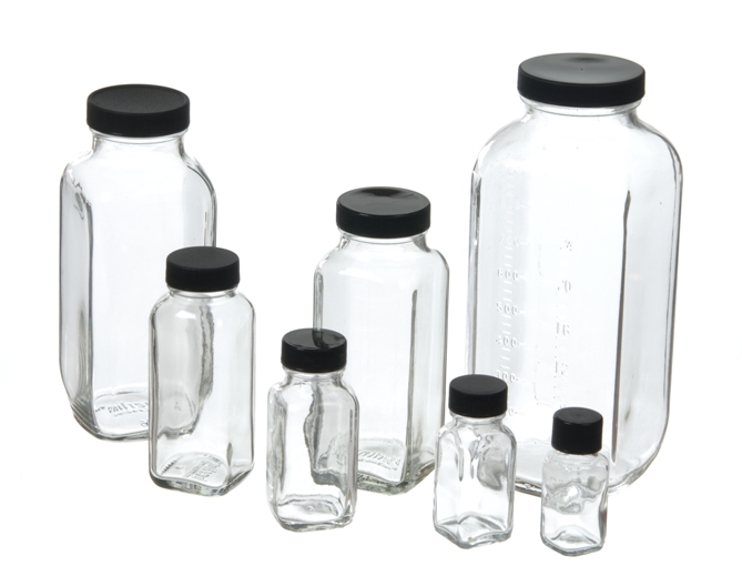 French Square Bottles