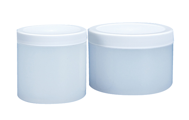 Natural & White Polypropylene Thick Wall Jars