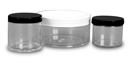 Crystal Polystyrene Thick Wall Jars