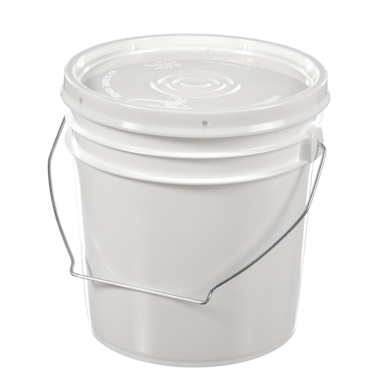 Plastic Pails With Handles 1 Gallon White 60 Mil Pail With