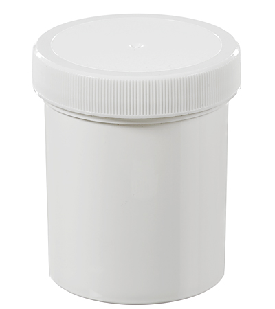 4 Oz 120 Ml White Polypropylene Regular Wall Jar